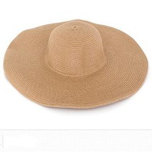 2015 Summer Fashion Floppy Straw Hats Casual Vacation Travel Wide Brimme... - $18.78