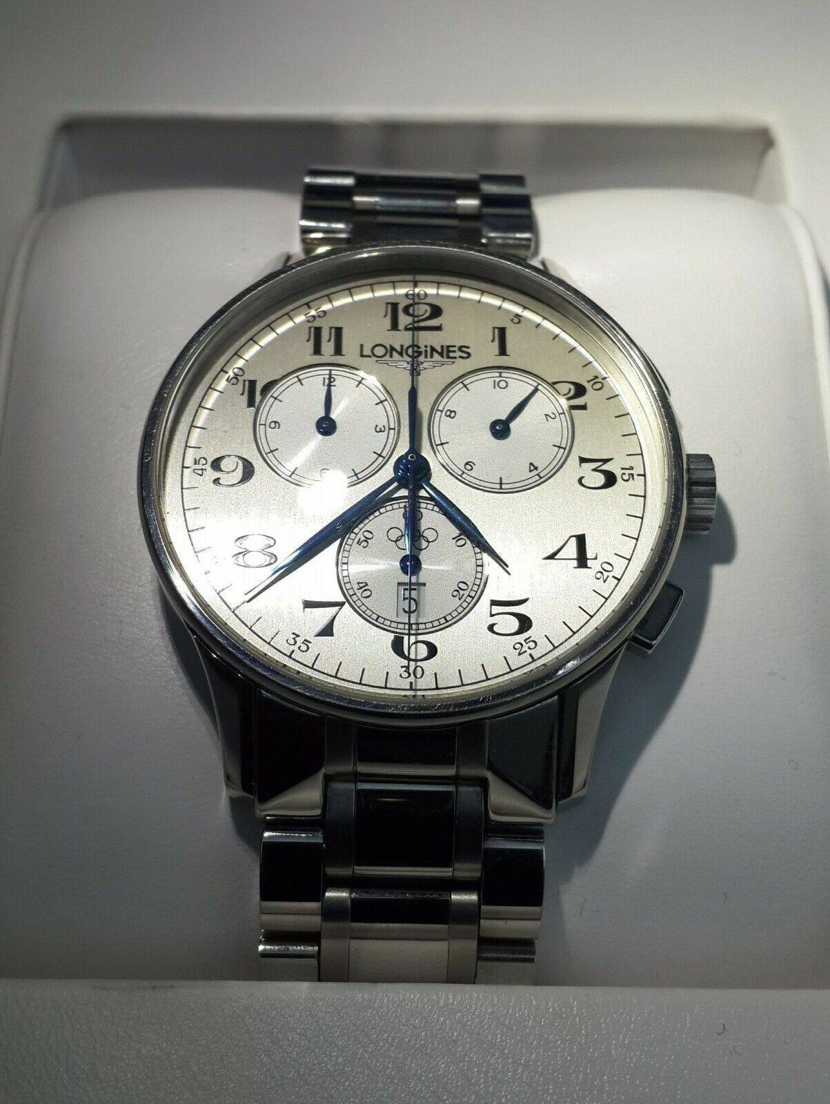 Primary image for Longines Olympic Collection Chronograph  Mens Watch Model:L2.649.4.73.7
