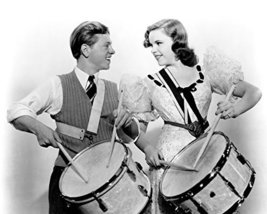 Mickey Rooney and Judy Garland in Strike Up the Band playing drums 16x20... - $69.99