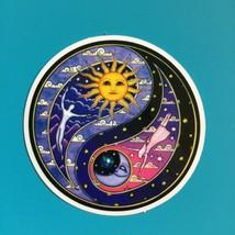 Small Mosaic Ying Yang Vinyl  Sticker   Hippie - $3.29