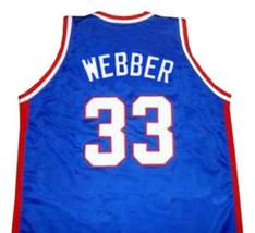 Chris Webber McDonald's All American Basketball Jersey Sewn Blue Any Size image 2