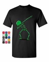 Dabbing Skeleton T-Shirt Funny Dab Dance Move Party Halloween Mens Tee S... - $8.40+