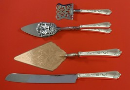 Sterling Rose by Wallace Sterling Silver Dessert Serving Set 4pc Custom Made - $299.00