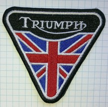 Triumph British Biker Motorcycle Embroidered Cloth Iron On Patch   Aufnäher - $4.59