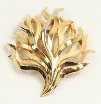 ESTATE VINTAGE Jewelry TRIFARI SIGNED LARGE SEAWEED MODERNIST BROOCH - $45.00