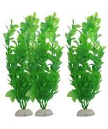 US, CN - 3PCS 10.6 Inch Green Artificial Plastic Water Plant Grass Fish ... - $9.01