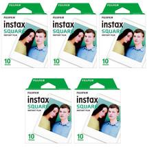 5 Packs 50 Instant Photos FujiFilm Instax SQUARE Film Polaroid Camera Fo... - $65.49