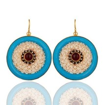 Pink Tourmaline Pearl Bakelite 925 Sterling Silver Drop Earring Amazing ... - $145.53