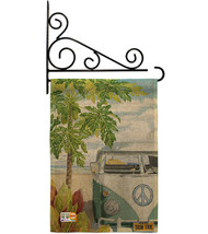 Hula Girl Burlap - Impressions Decorative Metal Fansy Wall Bracket Garde... - $33.97