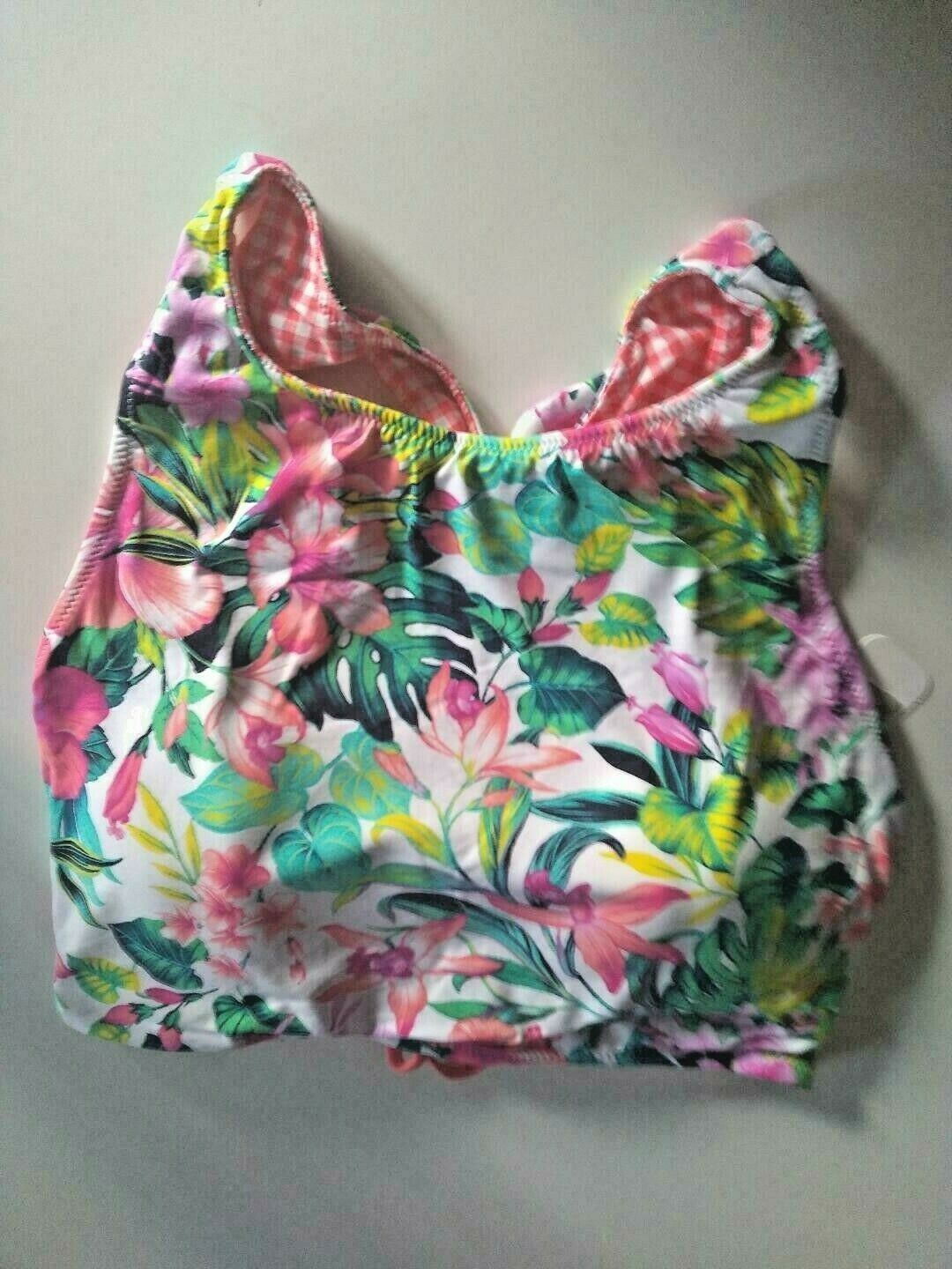 Tommy Bahama Floral Reversible Hi Neck Top Swim Top Size XL
