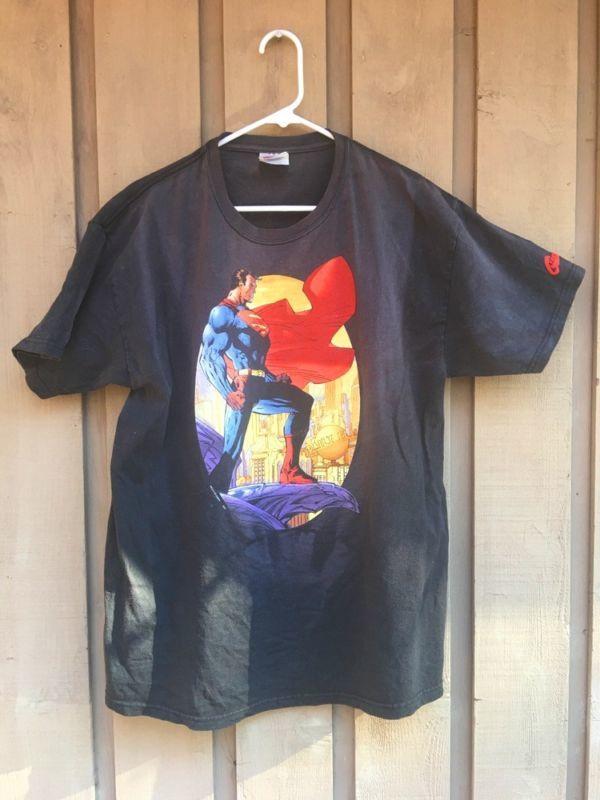 DC Comics SUPERMAN T-Shirt Mens Size LARGE (42-44) Justice League JIM LEE!