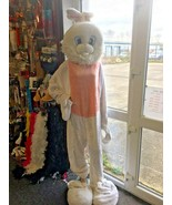 Easter Bunny Costume Deluxe Bunny Rabbit Mascot Funfair Fancy Dress Outfit  - $61.80