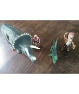 Jurassic Park Ellie Action Figure and 3 Dinosaurs Moving Parts 1993 - $56.97