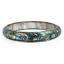 AeraVida Exquisite Abalone Shell Mosaic Bangle Bracelet - $51.17