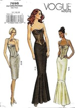 Vogue 7698 Misses' Halter Strapless Corset Evening Top and Skirt Sewing ... - $24.95