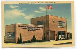 Cimarron Electric Cooperative Oklahoma linen postcard - $6.44