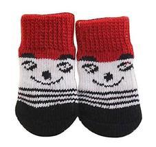 Black Temptation [C] 8 Pcs Lovely Knit Dog Socks Cat Socks Pet Knitted S... - £12.03 GBP