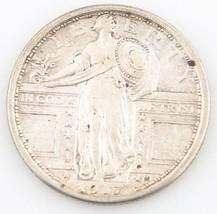 1917 US Standing Liberty Silver Quarter XF Philadelphia 25c Type 1 KM-141 - $127.71