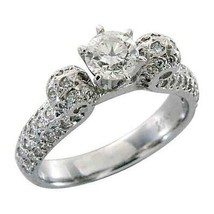 1.5 CARAT WOMENS ANTIQUE DIAMOND ENGAGEMENT WEDDING RING ROUND CUT WHITE... - £1,482.55 GBP