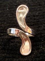 Espo Karatclad By Pass Ring 18K HGE Statement White Gold Plate Art Deco ... - $19.75