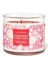 Bath & Body Works Strawberry Pound Cake Three Wick.14.5 Ounces Scented C... - $23.95