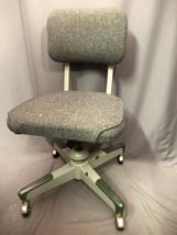 Gordon Manufacturing Vintage Tweed Propeller Base Swivel Office Chair Ma... - $197.99