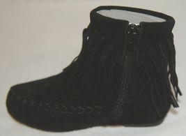 I Love Yo Kids AVA 92T Girls Fringe Boot Black Zip Up Size Eight image 9
