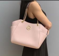 Michael Kors Jet Set Travel Chain Shoulder Tote Bag Saffiano Leather - $138.60