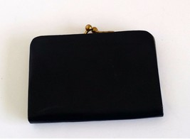 Black Leather Small Change Purse Western German by Princess Dore 3.5x2.5... - $23.75