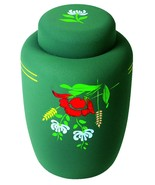 Floral Cornstarch 238 Cubic Inches Large/Adult Funeral Cremation Urn for... - $174.99