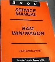 2000 Dodge RAM Furgone Wagon Servizio Riparazione Officina Negozio Manua... - $47.47