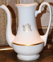VINTAGE Pickard BRACELET Gold 4 Cup Tea Coffee Pot No Lid WPA MONOGRAM 1... - $79.99