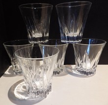 Set of 4 Crystal Glass Old Fashion Tapered Shap... - $24.18