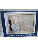 Humorous Cat Tin Sign Albert Felinestein  12 x 16 - $28.04
