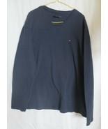 Tommy Hilfiger Long Sleeve Thermal Shirt Mens Size XL Navy Blue Cotton B... - $12.00