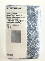Ikea JATTEVALLMO Duvet Cover & 2 Pillowcases White Blue Paisley Full/Queen - $64.30