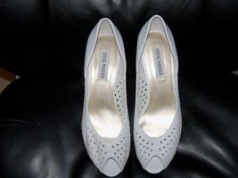Steve Madden White Visible Wedge Peep Toe Pump Size 9 Women's New - $40.00