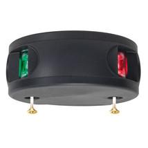 Aqua Signal Series 33 Bi-Color LED Deck Mount Light - Black Housing [33100-7] - $72.90