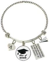Custom Class of 2020 Graduation Cheer Cheerleading Silver Bracelet Gift ... - $17.09