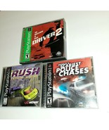 Playstation Auto Racing Video Game Bundle Police Chases Rush Driver 2 - $14.85