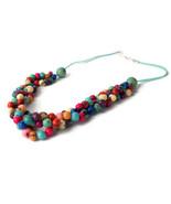 Acai beads Necklace, Beaded Necklace,  Torsade necklace, multi strand ne... - $25.60