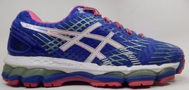 Asics Gel Nimbus 17 Women's Running Shoes Size US 8.5 M (B) EU 40 Blue Pink