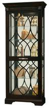 Howard Miller 680-499 (680499) Roslyn Lighted Curio Cabinet - Worn Black - £980.24 GBP