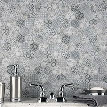 """SomerTile FTC2MDBL Medley Hex Porcelain Mosaic Floor and Wall, 11.125"""" x 12.625"""" image 11"""