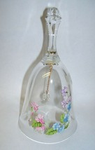 Glass Bell with Morning Glories Design - $16.82