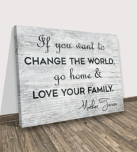 Love Mother Teresa Inspiration Quote Wall Canvas Print Wall Decoration Art Wood - $62.68+