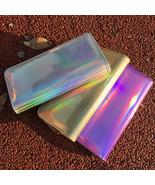 Hologram Zipper Clutch Wallet Women  Slim Wallet Organizer Card Holder P... - $16.95