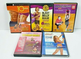 5 DVDs Fitness Blast Belly Budge Core Tone 1000 Workouts Lot of 5 - $20.26