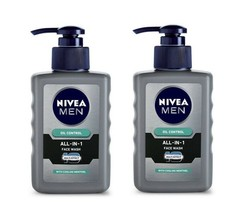 Nivea Men All-In-1 Pump Facewash, 150 gm x  2 pack (Free Shipping world) - $23.34