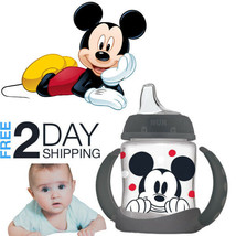 Mickey Mouse Learner Cup Toddler Anti-Slip Removable Handles BPA-Free So... - $9.89